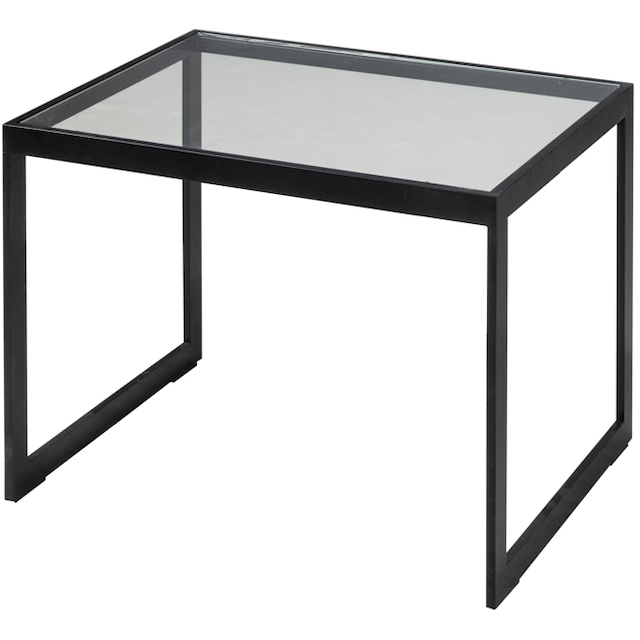 Square 2000 Side Table Glass, 56x41x43
