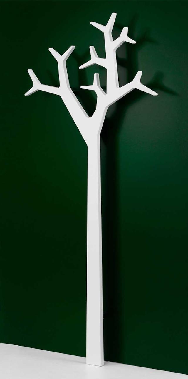 Tree Wall Stumtjener 134 cm, Hvit
