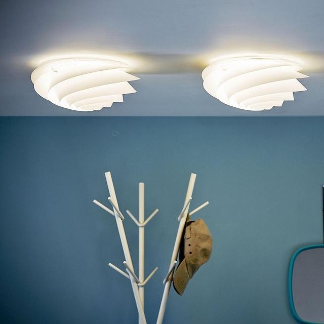 Swirl Tak/Vegglampe Liten, Hvit