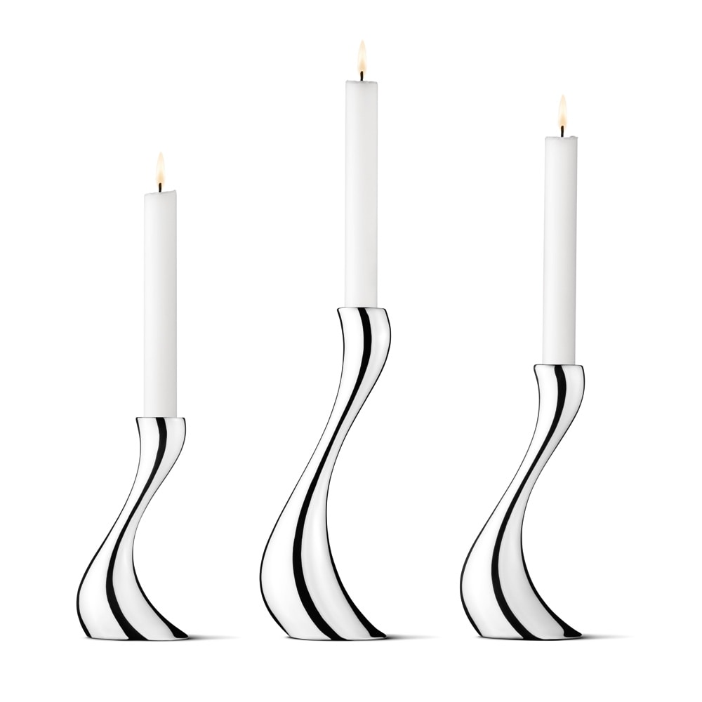 Nytt Cobra Lysestake Sett, 3 Deler - Georg Jensen @ RoyalDesign.no CA-27