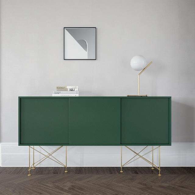 Vogue Sideboard 180H, Hvit/3W/Sort