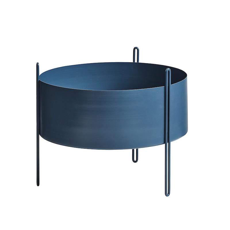 Oppdatert Pidestall Plantekasse M, Blå - Woud @ RoyalDesign.no NS-33