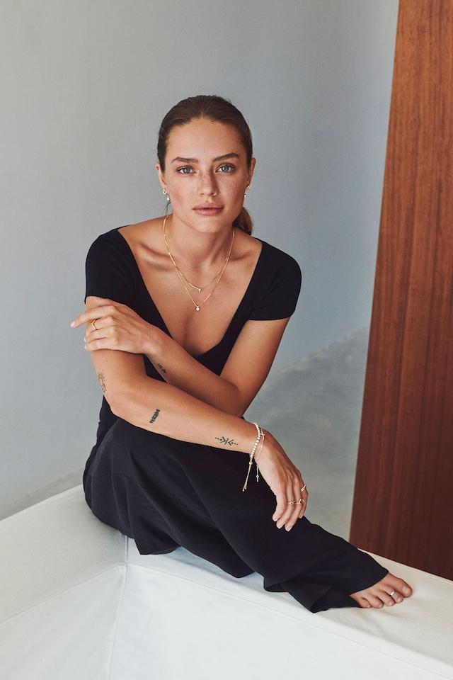 Lucia Bracelet, Gold/Crystal