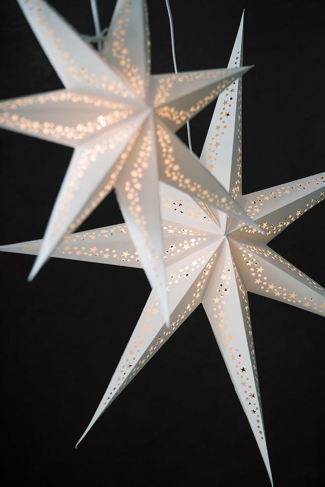 Vintergatan Julestjerne 44 cm, Hvit
