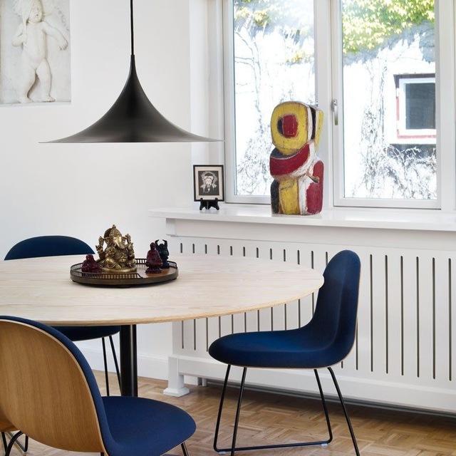 Semi Taklampe Ø30 cm, Sort