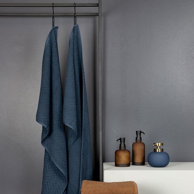 Brick Håndkle 50x95 cm, Midnight Blue