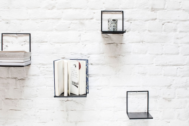 Shelf Black L, 20x20x21,5 cm