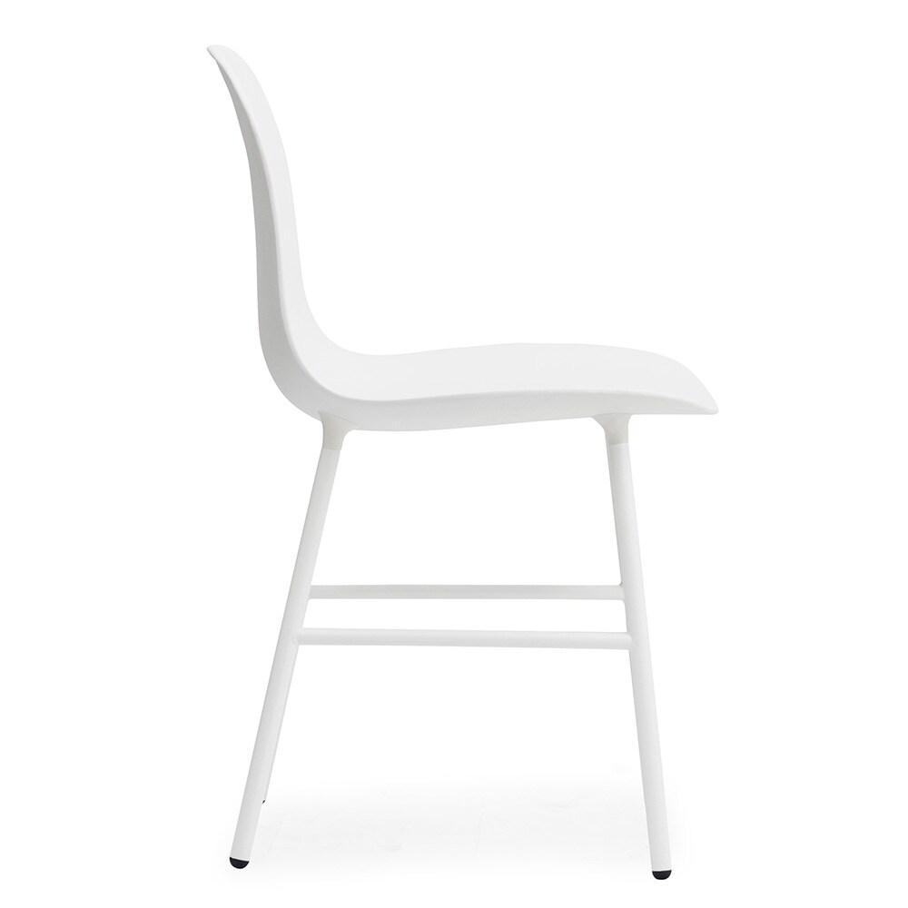 Form Stol, HvitStål Normann Copenhagen @ RoyalDesign.no