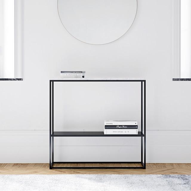 Marvelous Sideboard 90x80 cm, Sort/Hvit Marmor