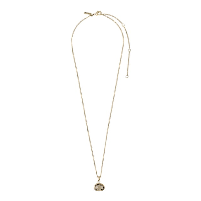 Air Necklace, Gold/Grey