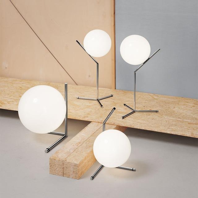 IC Lights T1 Bordlampe Høy, Krom