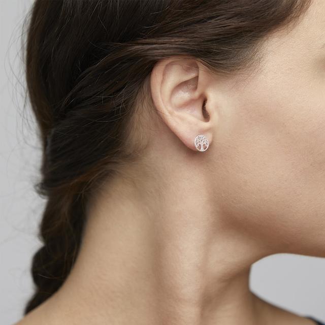 Georgina Earrings, Silver