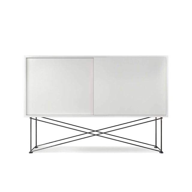 Vogue Sideboard 136H, Hvit/2W/Sort