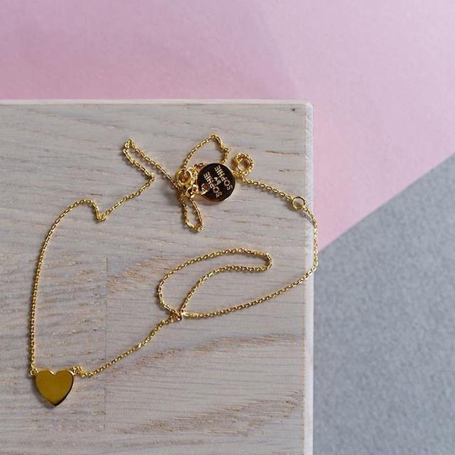 Heart Mini Halskjede, Gull