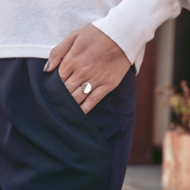 Pebble Mini Ring S, Steel