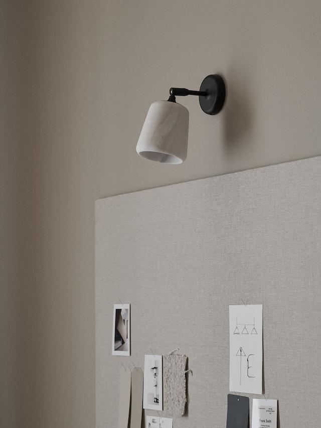Material Wall Lamp, Terracotta