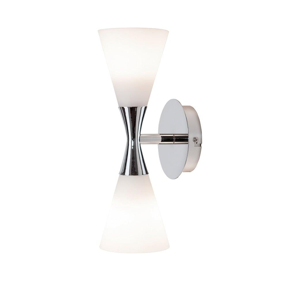 Harlekin Duo KromHvit Vegglampe