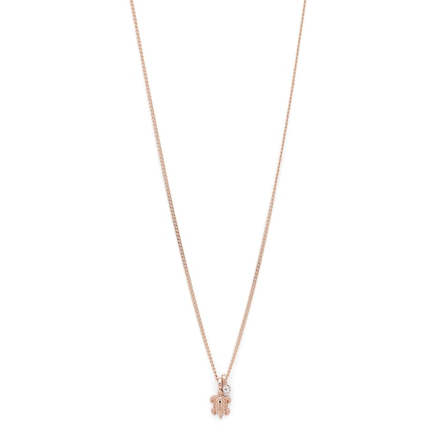 Akira Necklace 40 cm, Rose Gold/Crystal