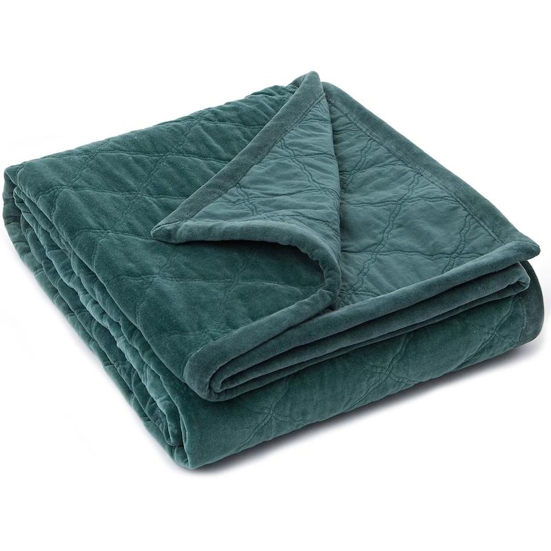 Svært Quilt Velvet Sengeteppe 160x240cm, Grønn - Lexington @ RoyalDesign.no CA-69