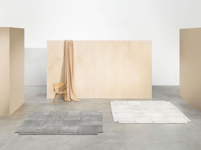 Basket Teppe 180x180 cm, Mørkegrå