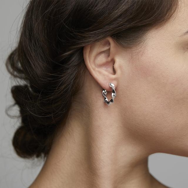 Elaine Earrings, Silver