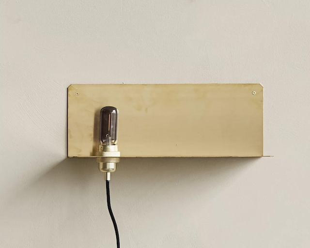 90° Wall Light Lampehylle, Messing