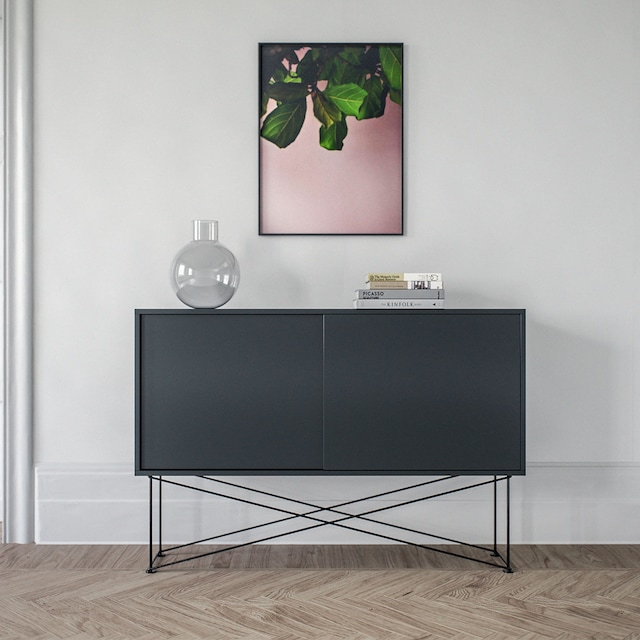 Vogue Sideboard 136H, Hvit/2W/Sort