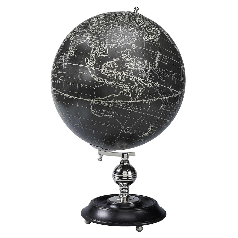 Opdateret Vaugondy 1745 Globus, Sort, 50x32cm - Authentic Models LM09
