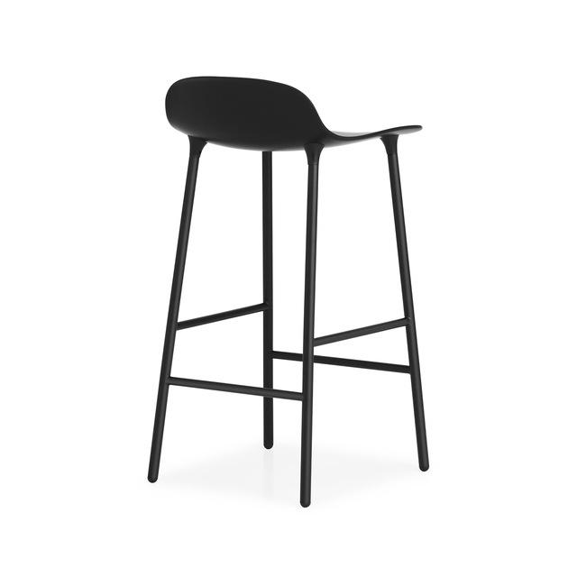 Form Barstol 65 cm, Sort/Stål