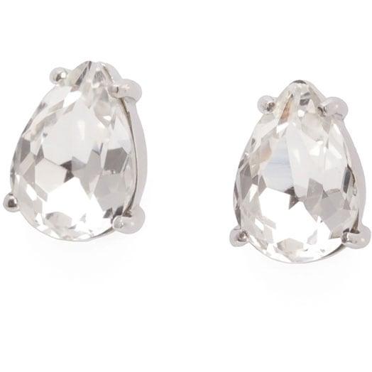 Blaze Earrings Mini, Clear/Steel
