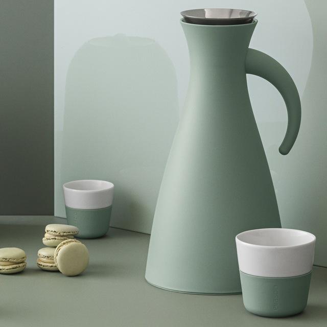 Espresso Mug 8 cl 2-Pack, Faded Green