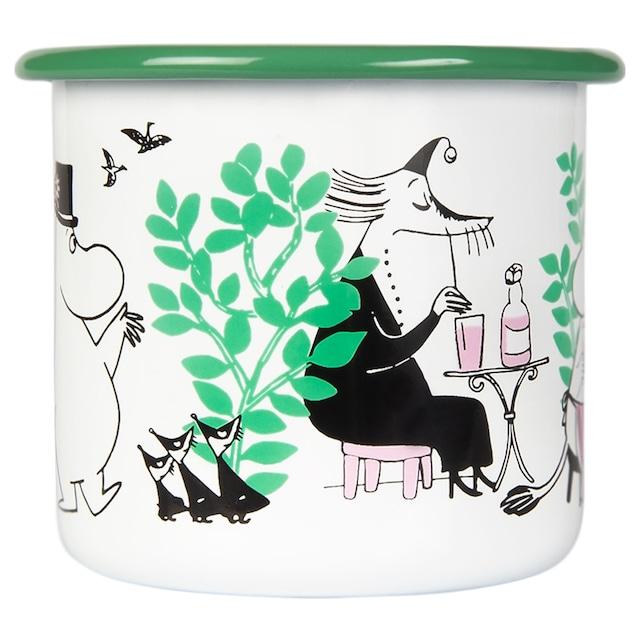 Moomin Enamel Mug 37 cl, In the Garden