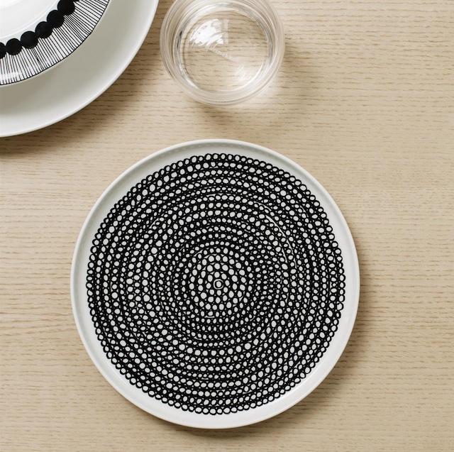 Siirtolapuutarha tallerken rund Ø 20 cm,Hvit/Sort