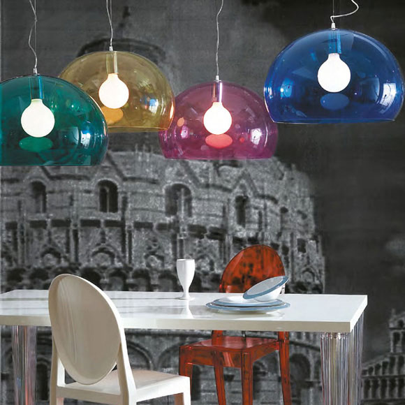 fl y lampe m rk bl ferruccio laviani kartell. Black Bedroom Furniture Sets. Home Design Ideas