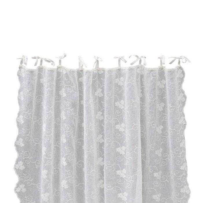 petrea crushed embroidery gardin cream 180x220 lene bjerre lene bjerre. Black Bedroom Furniture Sets. Home Design Ideas