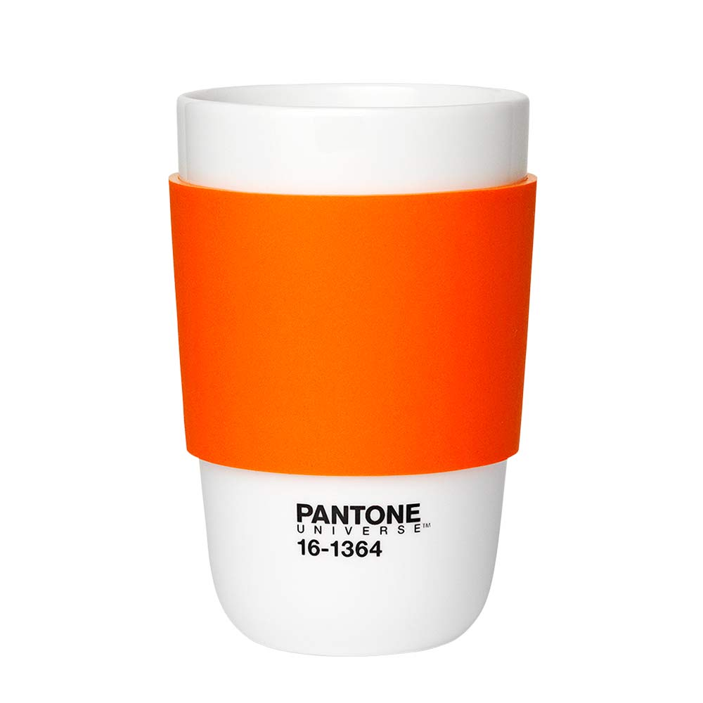 Pantone Klassisk Kopp Porselen Oransje