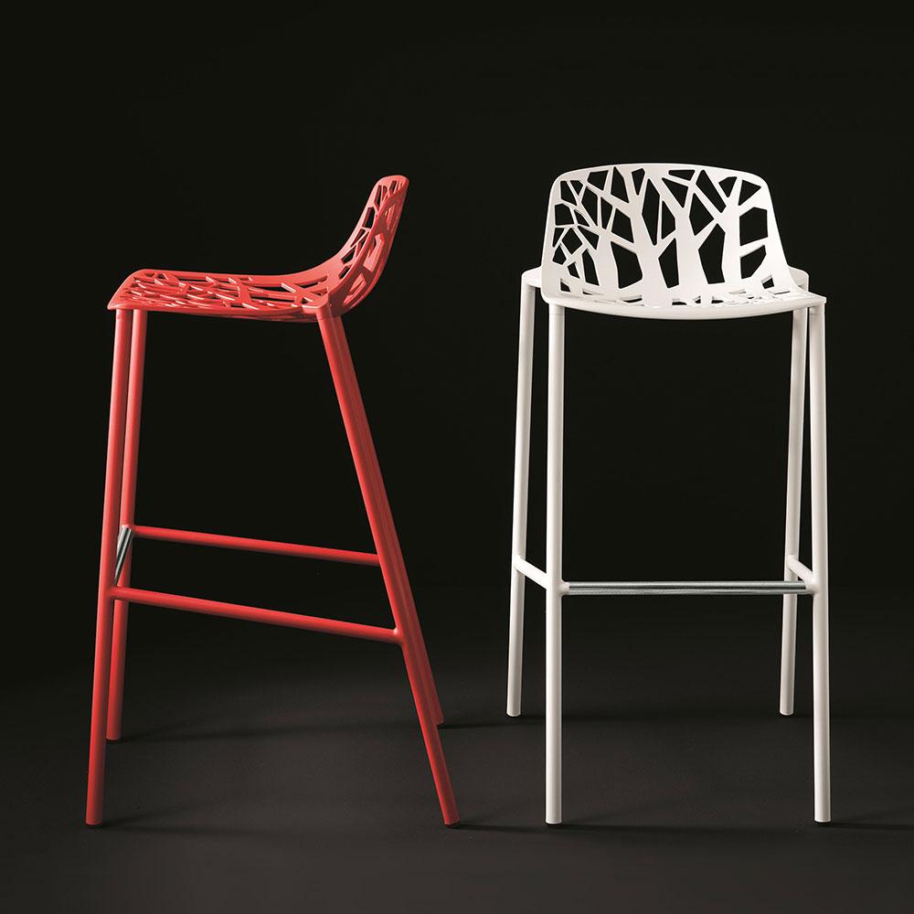 Forest barstol hvit fast design fast design for Chaise 70 cm