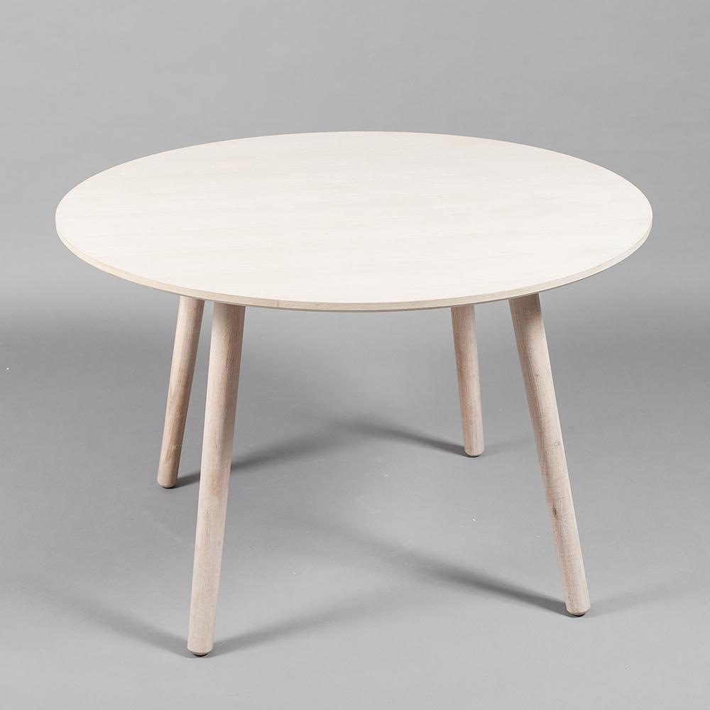 Ray Spisebord u00d8 110 cm, Hvitpigmentert Eik Department Department RoyalDesign no