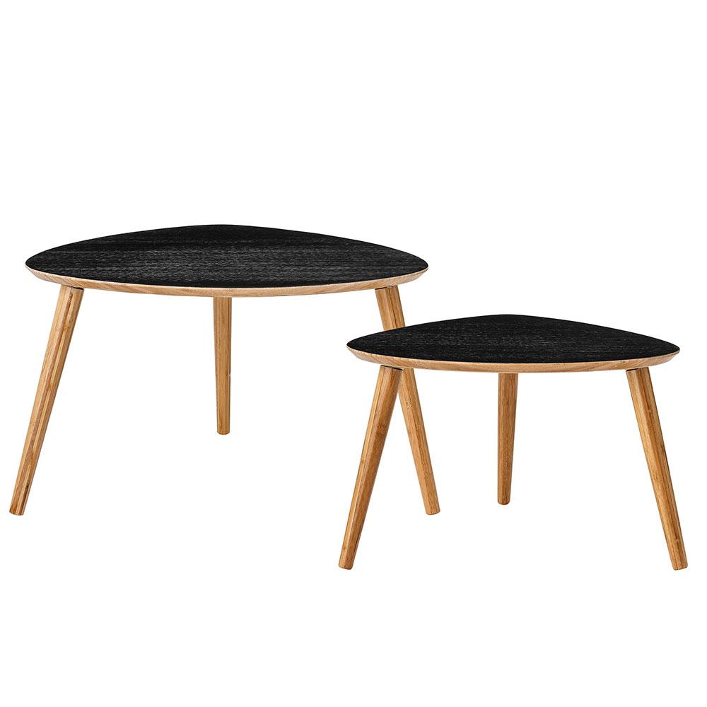 Bamboo salongbord 2 pakk sort bloomingville - Table basse bar noir ...