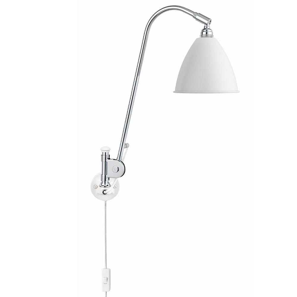 Bestlite BL6 Vegglampe, Krom Hvit Robert Dudley Best Gubi RoyalDesign no