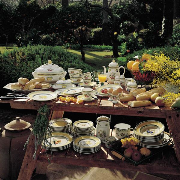 French garden hvalence br d sm rtallerken 17cm for Villeroy and boch french garden